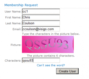 Membership Request Web Part