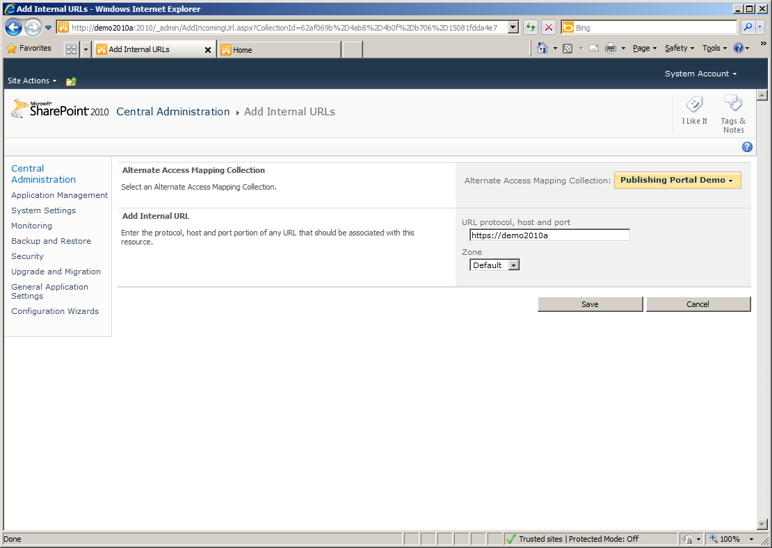 Mixed Http and Https Content with SharePoint 2010 - Chris