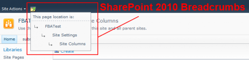 SharePoint 2010 Breadcrumb Control
