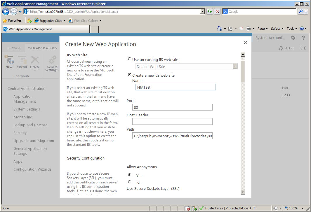 Configuring Forms Based Authentication in SharePoint 2013 - Part 4 ...