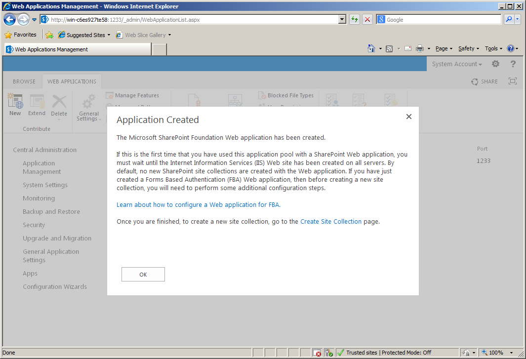 Configuring Forms Based Authentication in SharePoint 2013 - Part 4