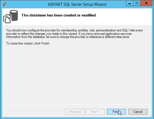 aspnet_regsql wizard finish