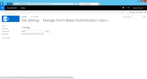SharePoint 2016 FBA Pack Manage Users